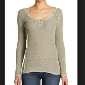 Free People Rag Tag Henley army green